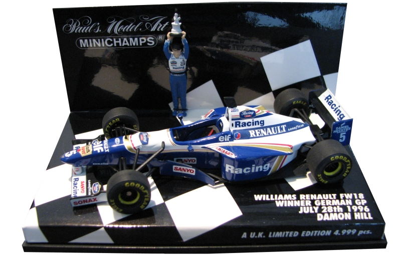 1996williamsfw18damonhillwinnergermangp28thjuly