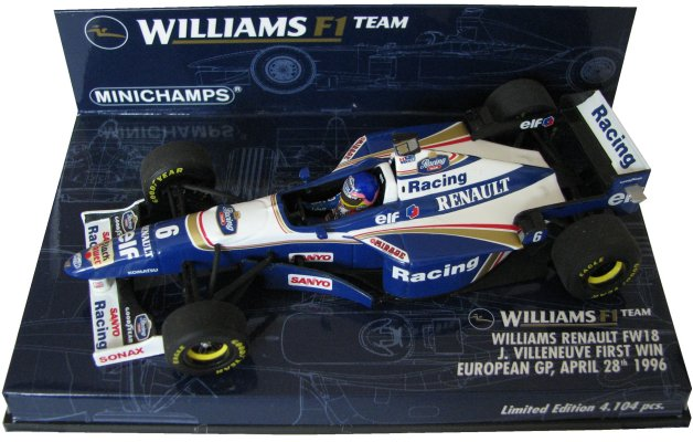 1996williamsrenaultfw18jaquesvilleneuvefirstwineuropeangp